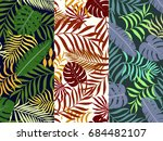 set of three seamless floral... | Shutterstock .eps vector #684482107