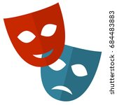 theater mask vector flat icon | Shutterstock .eps vector #684483883