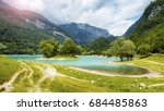 tenno lake in the mountains of... | Shutterstock . vector #684485863