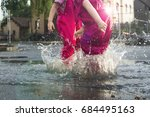 children and rain little girls...   Shutterstock . vector #684495163