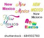 usa state name word art vector... | Shutterstock .eps vector #684502783