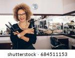 professional hair stylist...   Shutterstock . vector #684511153