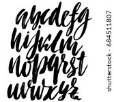 hand drawn elegant calligraphy... | Shutterstock .eps vector #684511807