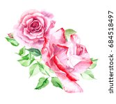 bouquet of  pink roses. rose... | Shutterstock . vector #684518497