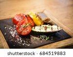 grilled vegetables. tomato ... | Shutterstock . vector #684519883