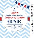 nautical sailor theme printable ... | Shutterstock .eps vector #684521803