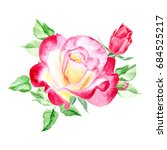 pink and yellow roses. rose... | Shutterstock . vector #684525217