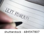 closeup of a young left handed... | Shutterstock . vector #684547807