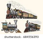 engraved vintage  hand drawn ... | Shutterstock .eps vector #684556393