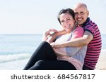 mature positive european couple ... | Shutterstock . vector #684567817