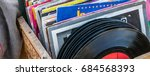 display of old lps and vintage... | Shutterstock . vector #684568393