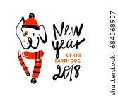 element design for 2018 year of ... | Shutterstock . vector #684568957