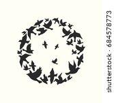 circle of birds  celebration... | Shutterstock .eps vector #684578773