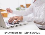 calculating the cost of postage ... | Shutterstock . vector #684580423