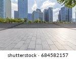 empty floor with modern... | Shutterstock . vector #684582157