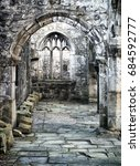 Old Ruined Medieval Church In...