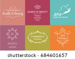 set of logo and symbol for... | Shutterstock . vector #684601657