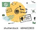 set of element for summer... | Shutterstock . vector #684602803