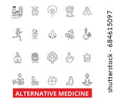 alternative medicine  healing ... | Shutterstock .eps vector #684615097
