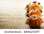 pumpkins | Shutterstock . vector #684625297