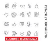 customer testimonials ... | Shutterstock .eps vector #684629833