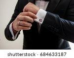 elegant young fashion man... | Shutterstock . vector #684633187