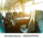 interior of a train carriage... | Shutterstock . vector #684639343
