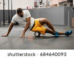 young athlete man is preparing... | Shutterstock . vector #684640093
