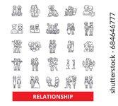 relationship  friendship... | Shutterstock .eps vector #684646777