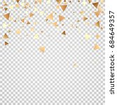 golden confetti on a... | Shutterstock .eps vector #684649357