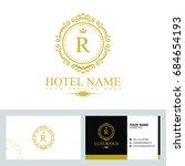 luxury logo template in vector... | Shutterstock .eps vector #684654193