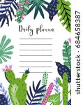 daily planner template.... | Shutterstock .eps vector #684658387