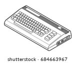 detailed line drawing of an old ... | Shutterstock .eps vector #684663967
