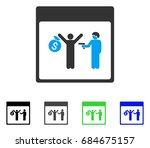 arrest calendar page flat... | Shutterstock .eps vector #684675157