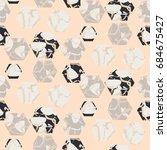 marble stone hexagons seamless... | Shutterstock .eps vector #684675427