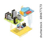 isometric infographics with... | Shutterstock .eps vector #684677173
