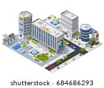 luxury hotel buildings... | Shutterstock .eps vector #684686293