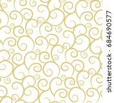 elegant curls in gold. seamless ... | Shutterstock .eps vector #684690577