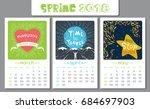 calendar design for 2018 year.... | Shutterstock .eps vector #684697903