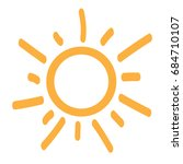 isolated sun icon on a white... | Shutterstock .eps vector #684710107
