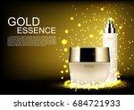 skin care set with golden... | Shutterstock .eps vector #684721933