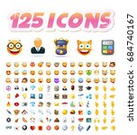 set of realistic cute icons on... | Shutterstock .eps vector #684740167