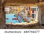 venice canal grande view... | Shutterstock . vector #684746677