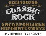 script handcrafted vector... | Shutterstock .eps vector #684760057
