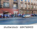 krakow  poland   september 4 ... | Shutterstock . vector #684768403