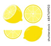 fresh lemon vector illustration | Shutterstock .eps vector #684769903