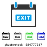 exit caption calendar day flat... | Shutterstock .eps vector #684777367