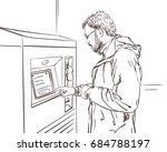 sketch of man wearing glasses... | Shutterstock .eps vector #684788197