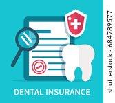 dental insurance concept banner.... | Shutterstock .eps vector #684789577