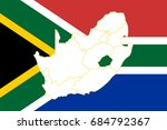 map and flag of south africa | Shutterstock .eps vector #684792367